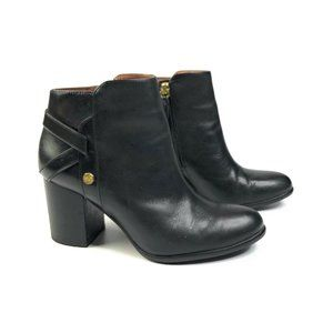 Louise et Cie Zanara Black Leather Ankle Booties